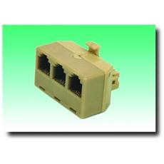 Adattatore Telefonico 6P / 4C / 3 x 6P / C