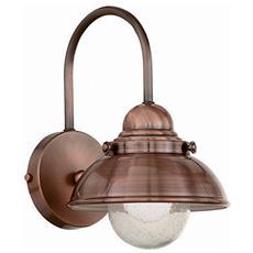 Lampada da parete L 200 x H 325 x P 250 mm 1 x 100W E27 IP20 Rame