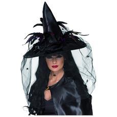 Cappello Da Strega Adulti Deluxe Halloween Taglia Unica