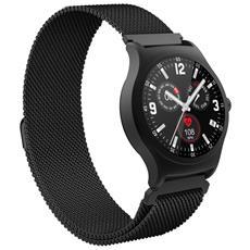 Smartwatch V90 Display 1.3''con Bluetooth e Cardiofrequenzimetro Colore Nero - Europa