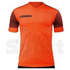 Maglia Praga M / c Arancio-fluo-nero Calcio Adulto Taglia M