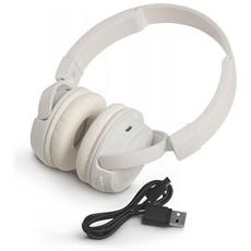 Cuffie Circumaurale Padiglione T450BT Bluetooth Colore Bianco