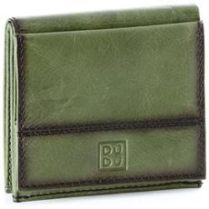 f9f618c97a DUDU - Portafoglio Uomo In Pelle Con Portamonete Esterno E Porta Carte Di  Credito Dudu Verde