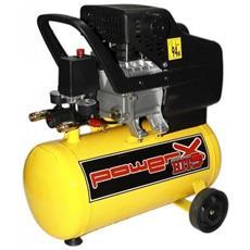 Compressore Lubrificato A Olio 24lt 8bar 1500w 2hp Con Ruote Ph024