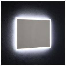 Specchio Con Cornice Retroilluminata A Led 80x60 Cm Reversibile