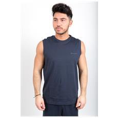 T-shirt Smanicata Da Uomo Classic Blu M