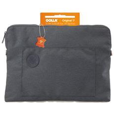 Custodia Notebook Slim Sleeve Fino a 16'' Grigio / Arancio