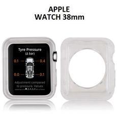Custodia Gel Tpu Silicone Per Apple Watch 38mm Colore Bianco Trasparente
