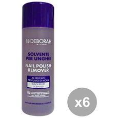 Set 6 Solvente Unghie Con Acetone 120 Ml. Saponi E Cosmetici