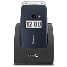 """Primo 413 Senior Phone Display 2.4"""" Micro SD Bluetooth con Tasti Grandi + SOS Fotocamera Colore Azzurro"""