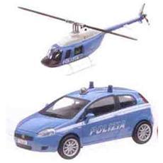 DieCast 1:43 Auto Polizia + Elicottero 57004
