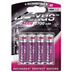 IBT-K2700-B4 - Blister 4 Batterie Ricaricabili AA Stilo HR6 2700mAh