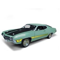 Amm992 Ford Torino Cobra 1971 Light Green / Black 1:18 Modellino