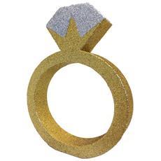 Decorazione Da Tavolo A Forma Di Anello Di Fidanzamento (20cm) (dorato)