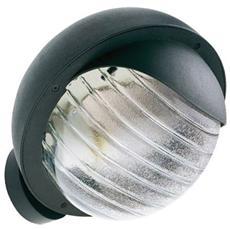 Applique lampada da parete tonda in termoplastico da esterno nero