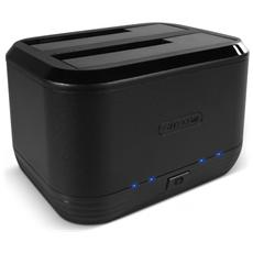 """Box Esterno per Disco Rigido SATA da 3.5"""" / 2.5"""" Interfaccia USB Colore Nero"""