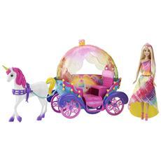 Barbie Principessa Arcobaleno E Carrozza