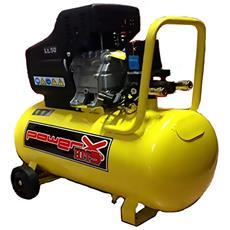 Compressore Lubrificato Olio 50lt Con Ruote 1.5kw 2hp Monofase Manometri Ph050