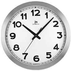 Orologio Da Parete Con Cassa In Alluminio Satinato D. Cm 40 - 14930-ma