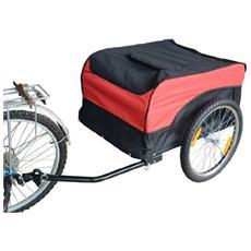 Carrello per bici rimorchio per bicicletta rosso / nero