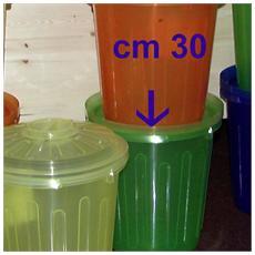 Bidone Con Coperchio Lt7.5 Color Assortiti Pattumiere E Bidoni