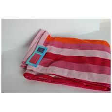 Asciugamano Telo Mare 100% Cotone Stripes Pink 90x170cm 6220491901714-615