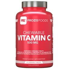 Vitamina C 500 Mg 90 Compresse Masticabili Energia Difese Sistema Immunitario - Arancia