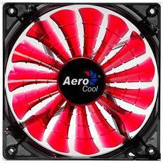 Shark Fan Devil Red Edition 14cm, Ventilatore, Computer case, 14 cm, Nero, Rosso, Trasparente, 0,15A, 7V