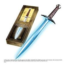 Pungolo Lo Hobbit Spada Elfica Luminosa Di Bilbo Beggins Frodo Sword 68 Cm