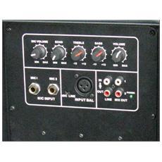 XTK12A, Nero, Pavimento, Universale, Incasso, Cablato, XLR / 6.3mm / RCA