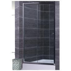 Box doccia 150 cm trasparente per nicchia apertura scorrevole a 2 ante reversibili