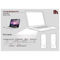 "HDSHD01VA13MBP, Docking, Apple, 13"" MacBook Pro, Bianco"