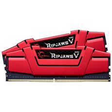 Memoria Dimm Ripjaws V DDR4 8 GB (4 GB x 2) 2666 MHz CL 15 Dissipatore Rosso