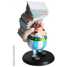 124 - Asterix - Obelix Con Pila Di Libri
