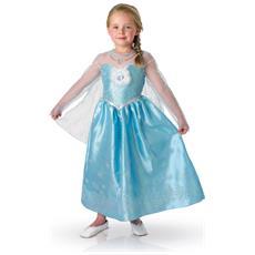 Costume La Regina Delle Nevi Deluxe Elsa Frozen Per Bambina 7 A 8 Anni