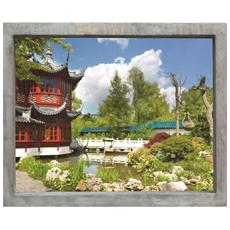 Sticker Fenetre Trompe L'oeil Adhésive - Jardin D'asie60x75 Cm