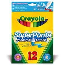 Pennarelli Superpunta Lav. 12pz