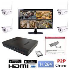 Lkm Kit Videosorveglianza Pro Con Monitor Espandibile 16 Cam