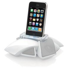 Sistema Audio Portatile On Stage Micro III con Dock iPod / iPhone Colore Bianco