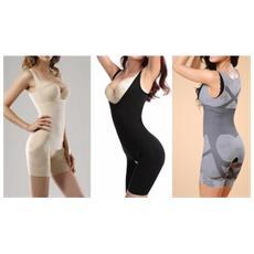 Tuta Modellante Body Corpo Bamboo Slim Ultra Aderente Slimming Shape Contenitivo - Grigio S / m