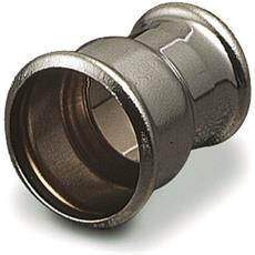 Doppio Bicchiere A Tenuta Interna, Doppio Bicchiere Ridotto A Tenuta Interna Con Anello O'ring In Ottone Cromato Per Canotti Diametro Mm. 40x32