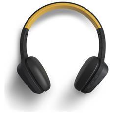 429325 Padiglione auricolare Stereofonico Con cavo e senza cavo Nero, Giallo auricolare per telefono cellulare
