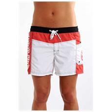 Costume Da Uomo Volley Corto Bianco Rosso M