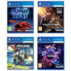 PS VR Mega Pack 5 - Eve Valkyrie VR + RIGS Mechanized League VR + Worlds VR + Battlezone VR