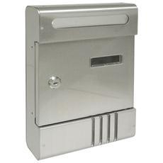 Cassetta postale in alluminio con serratura a cilindro cm 20,5x6,5x29