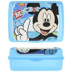 Porta Pranzo Disney Mickey 17x13x6,5 Contenitori Per Alimenti