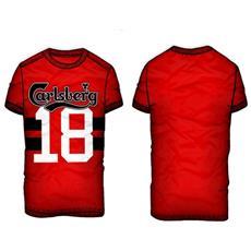 T-shirt Uomo Numero 18 M Rosso