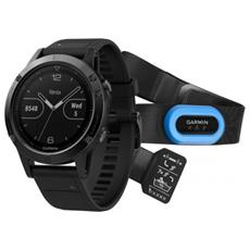 Orologio Fenix 5 GPS con Misurazione Frequenza Cardiaca al Polso Cassa 47mm Colore Sapphire Nero + Fascia Cardio