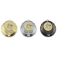Medaglia 50mm Taekwondo. Argento