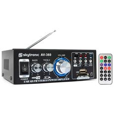 2x40w Amplificatore Karaoke - Fm / Sd / Usb / Mp3 + Remote Av-360
